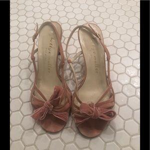 Bettye Muller blush pink sandals